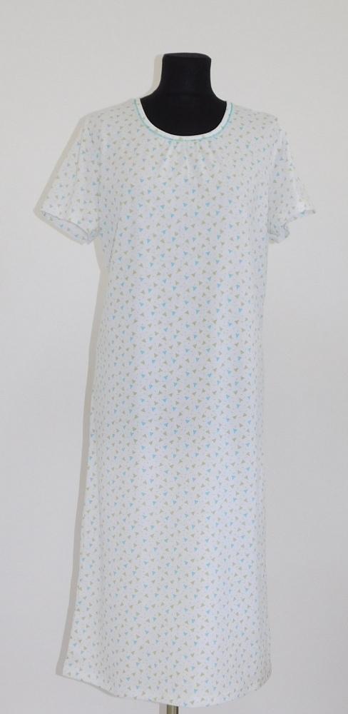 Dámská noční košile Líba K - modrozelený trojúhelník