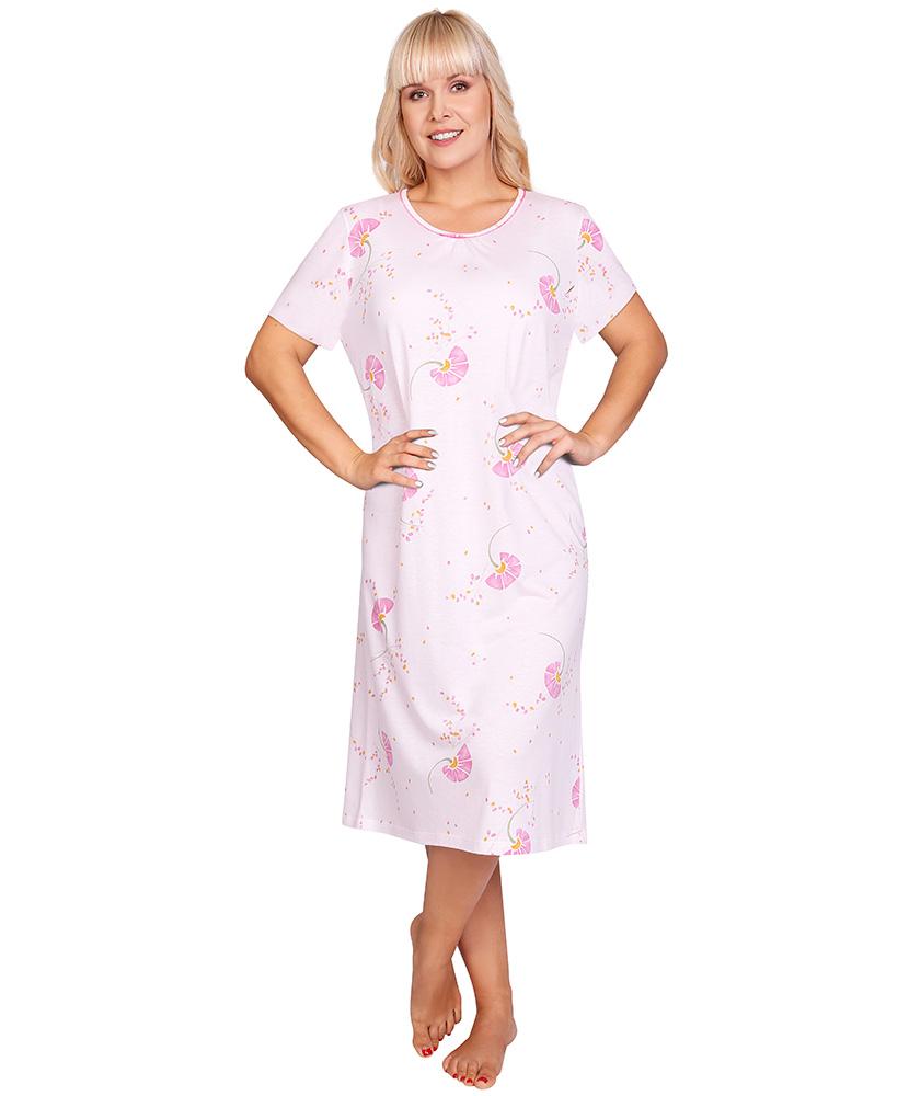 Dámská noční košile Líba K - růžové bobulky