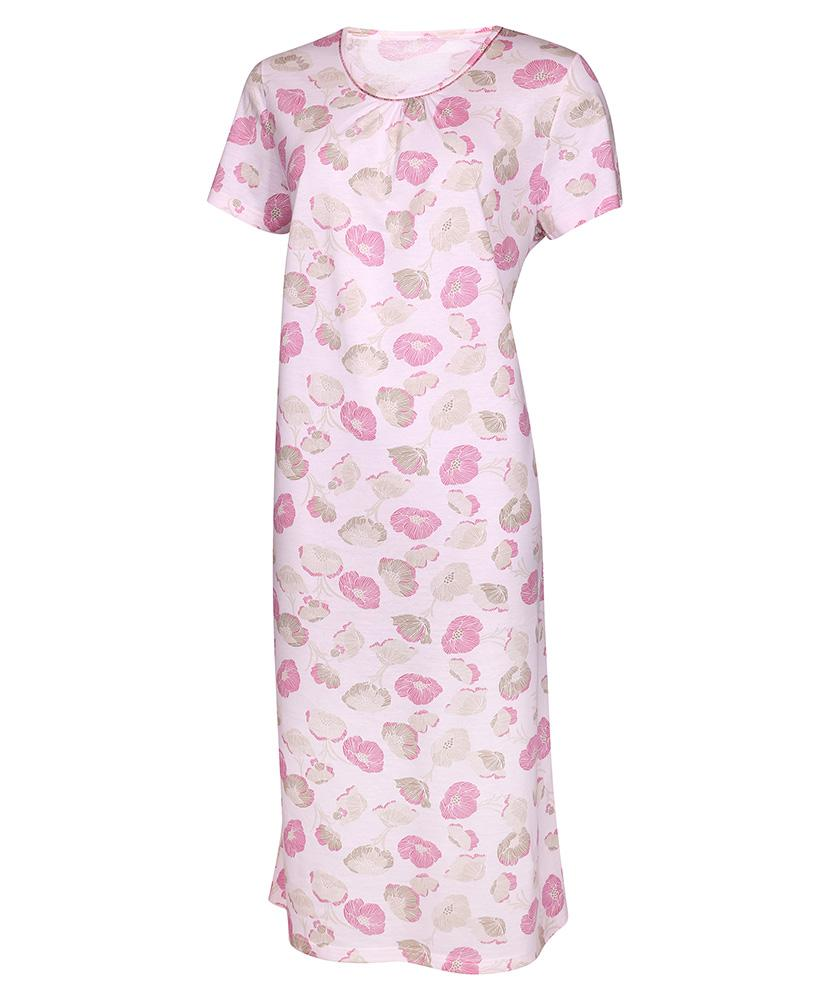 Dámská noční košile Líba K - růžovo-béžový květ