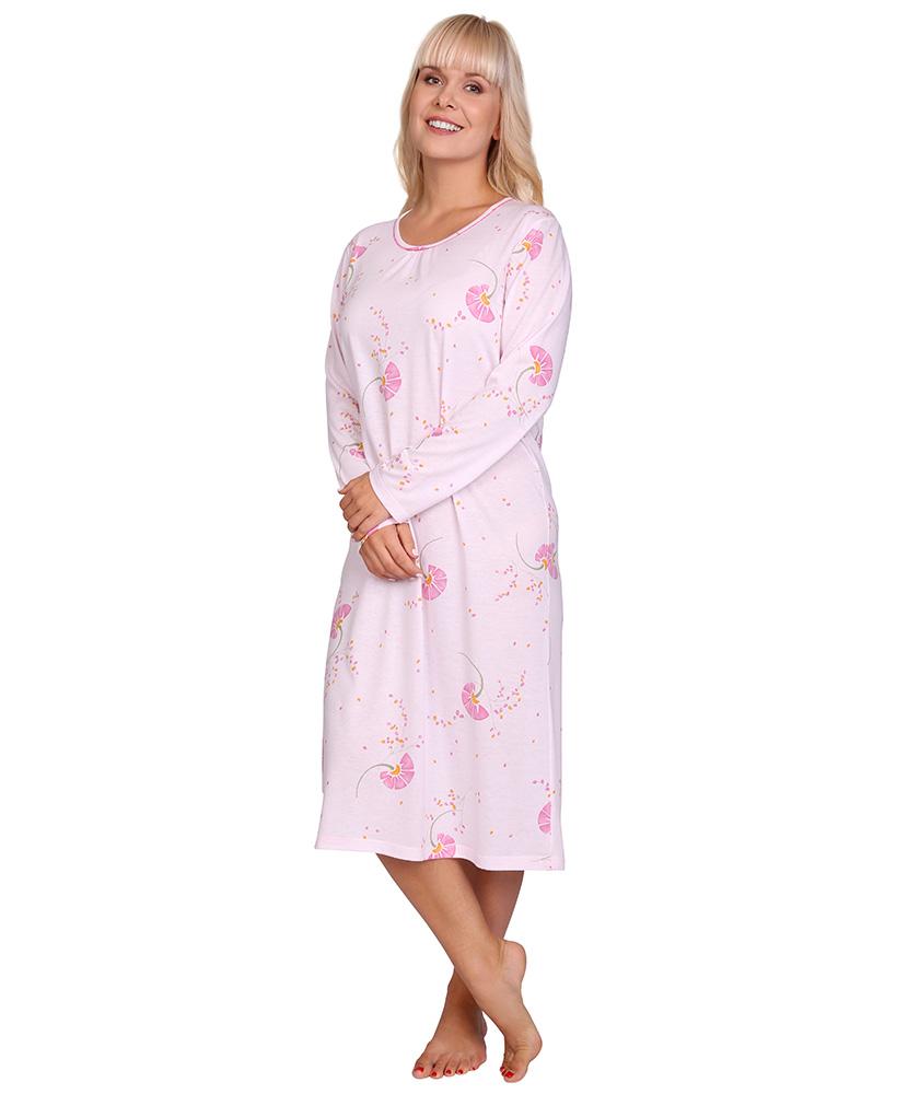 Dámská noční košile Líba D - růžové bobulky