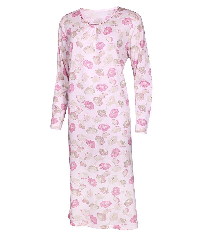 Dámská noční košile Líba D - růžovo-béžový květ