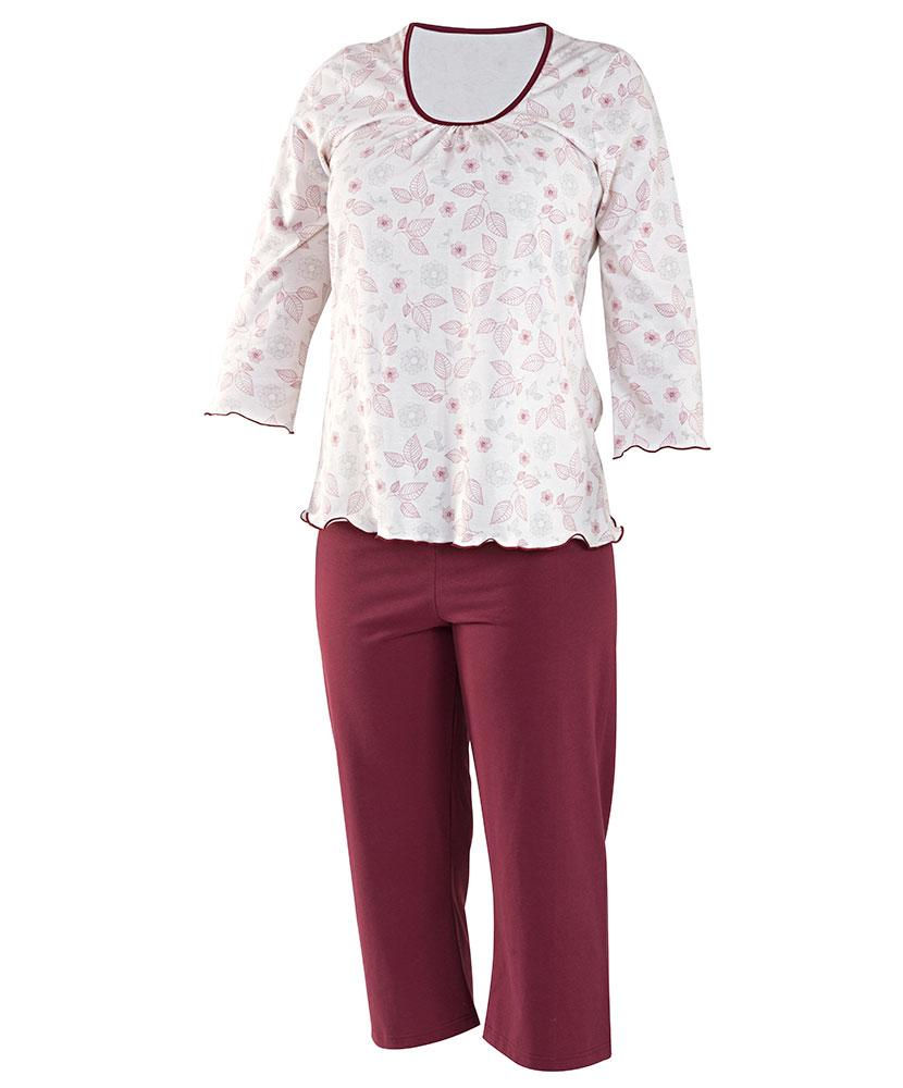 Dámské pyžamo Danuše - vínový tisk
