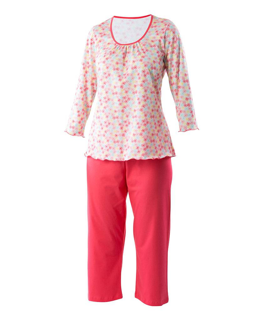 Dámské pyžamo Danuše - barevná kytka