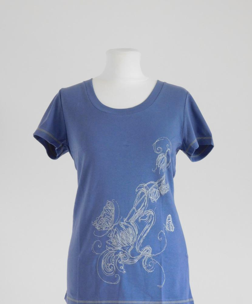 Dámské tričko Romana - šedomodrá