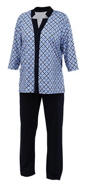 Dámský domácí oblek Doly - tmavě modrý tisk