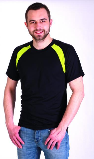 Pánské tričko krátký rukáv - černá