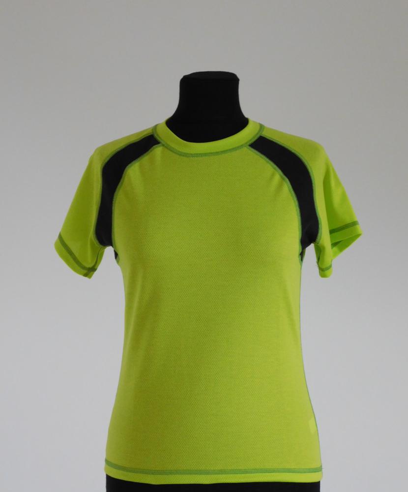 Dámské tričko krátký rukáv - světle zelená