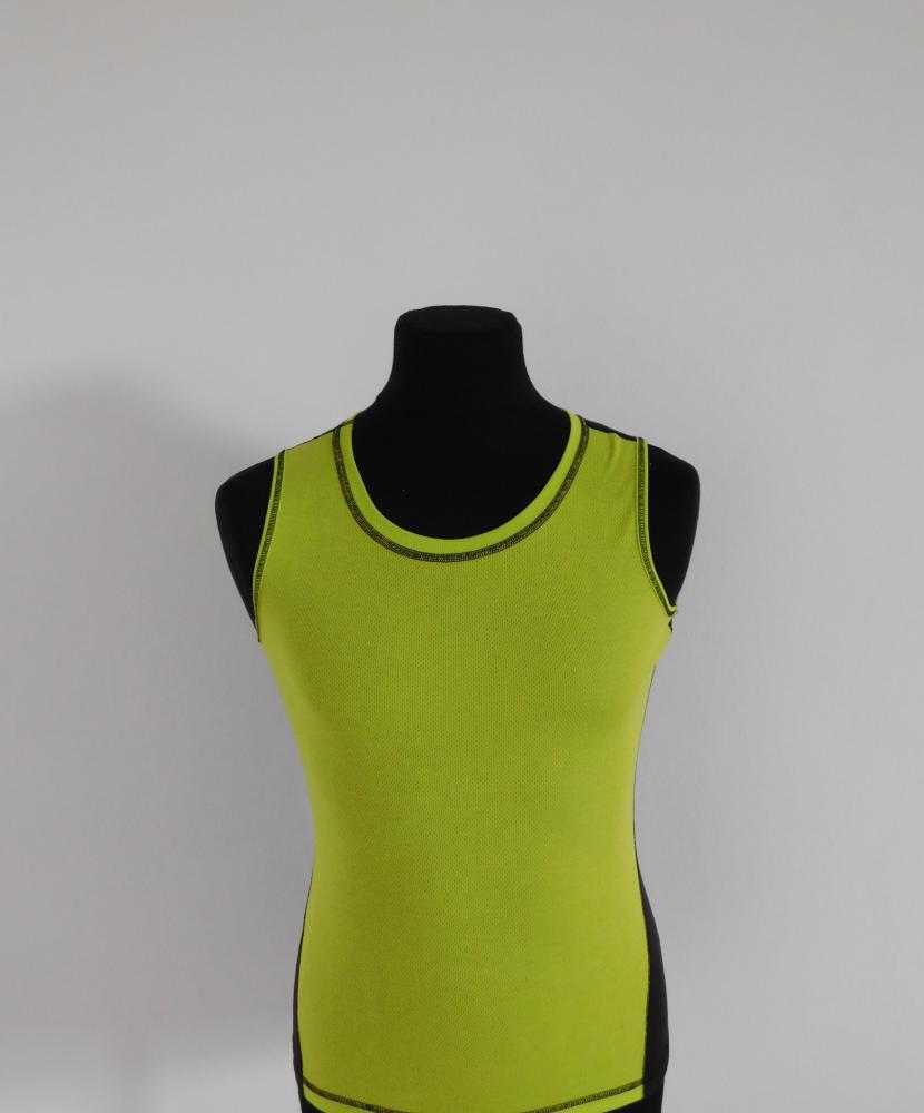 Dámské triko bez rukávů - světle zelená