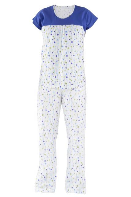 Dámské pyžamo Miluše - modrý korálek