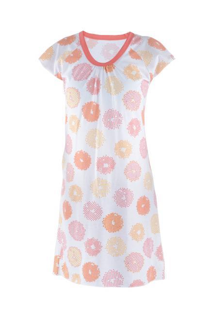 Dámská noční košile Ela - meruňkové korále
