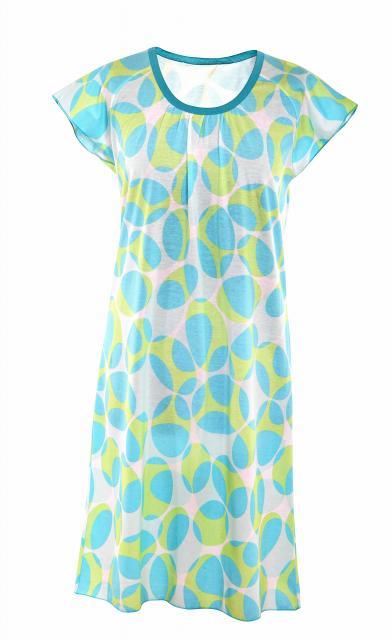 Dámská noční košile Ela - modrozelený ovál
