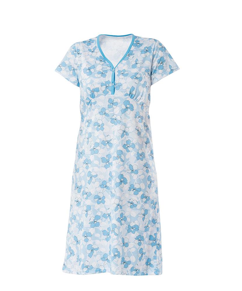 Dámská noční košile Nikolka K - modrobílý tisk