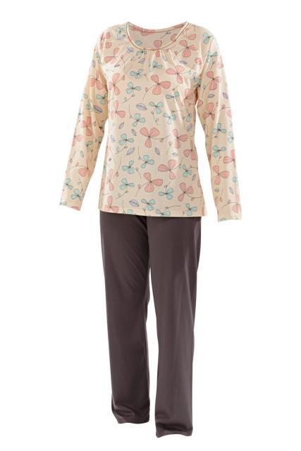 Dámské pyžamo Libuše D - meruňkový tisk