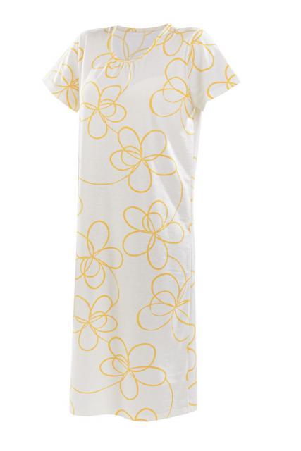 Dámská noční košile Luna K - žlutá hvězda