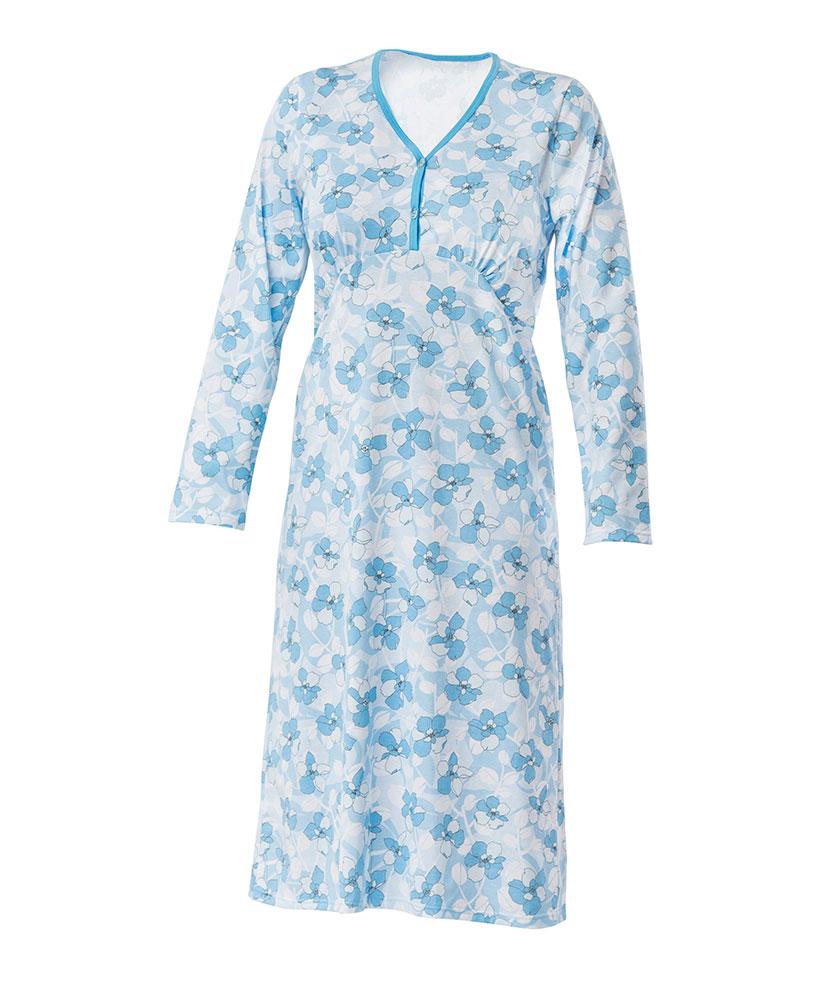 Dámská noční košile Nikolka D - modrobílý tisk