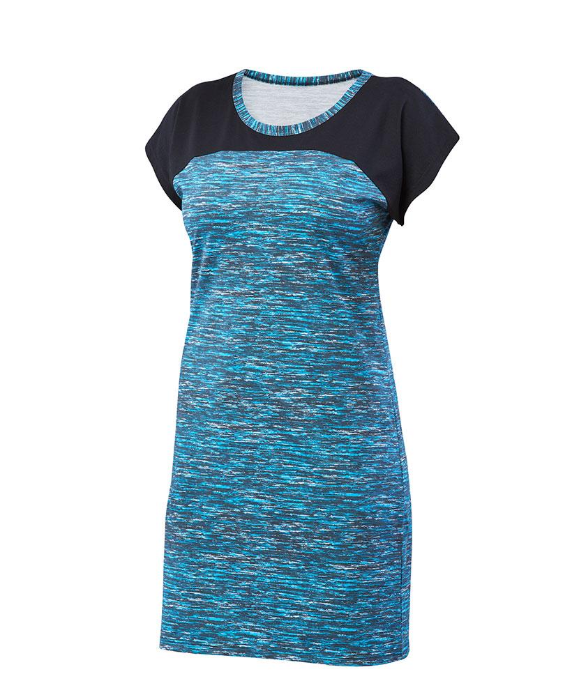 Dámské šaty Ina - tyrkysový tisk