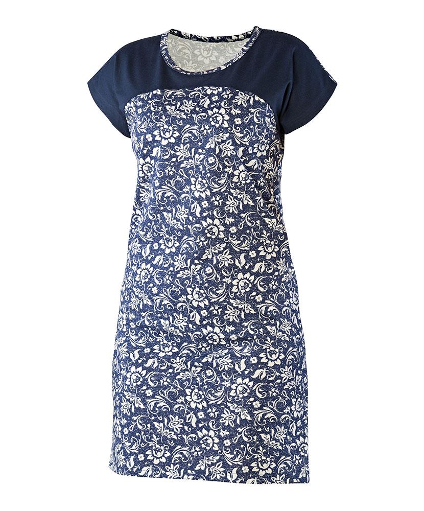 Dámské šaty Ina - tmavě modrý květ
