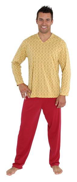 Pánské pyžamo Emil - okrová