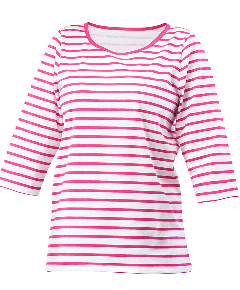 Dámské triko Apolena - růžový proužek