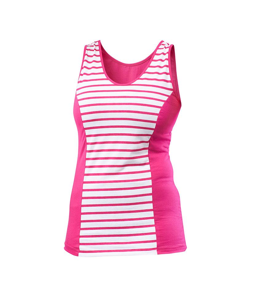 Dámské tričko Darja - růžový proužek