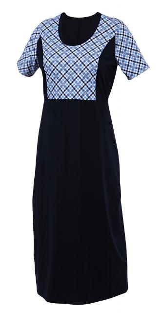 Dámské šaty Anita - tmavě modrý tisk