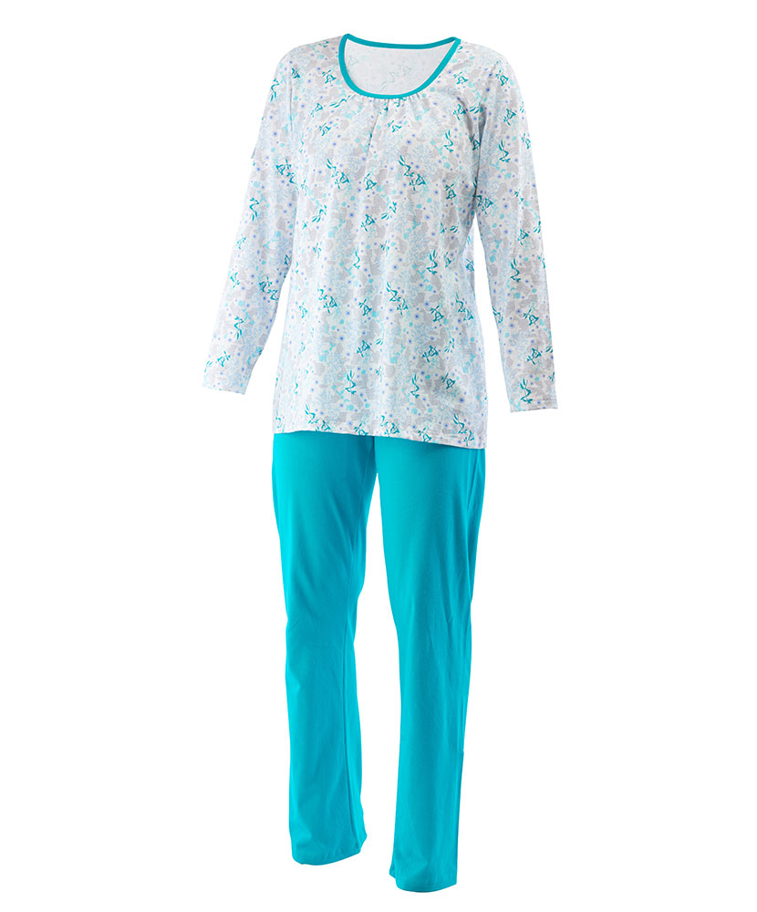 Dámské pyžamo Liběna - zelenomodrá