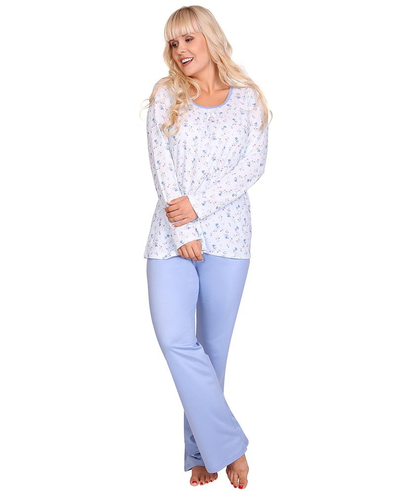 Dámské pyžamo dlouhý rukáv Liběna - barevný zvoneček