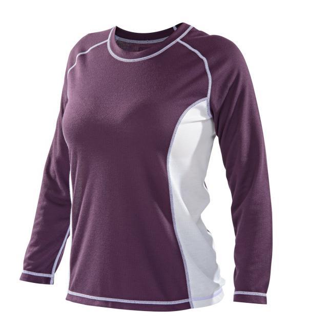 Dámské triko dlouhý rukáv - fialová