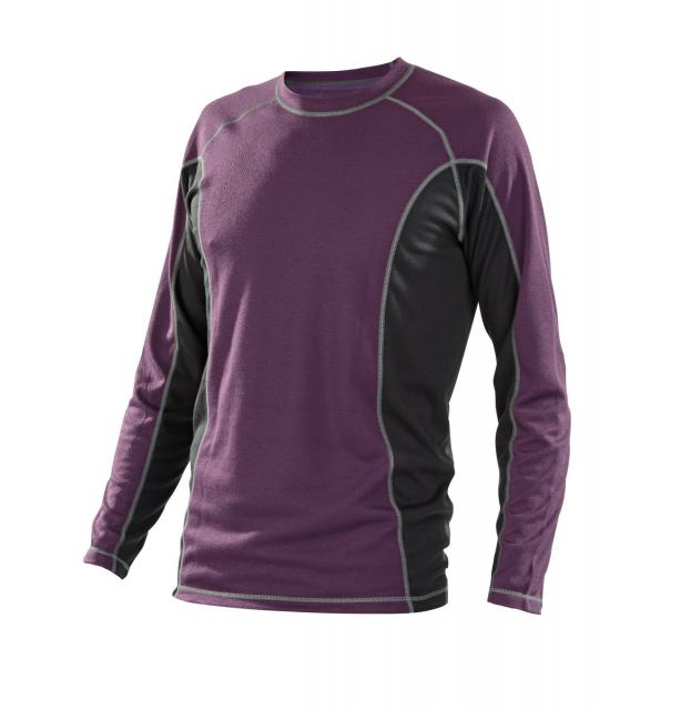 Pánské triko dlouhý rukáv - fialová