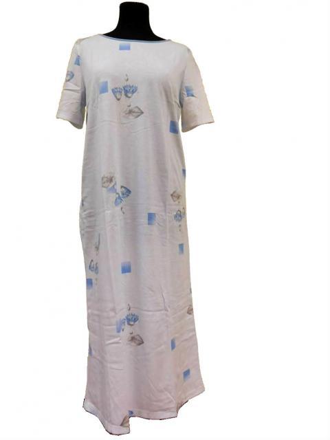 Dámská noční košile Iva - světle modrý tisk