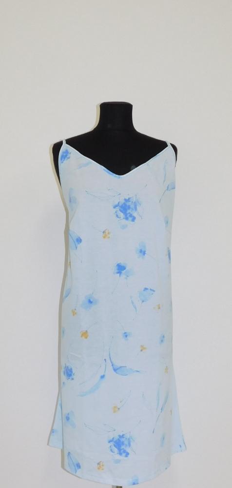 Dámská noční košile Juka - modrožlutý květ