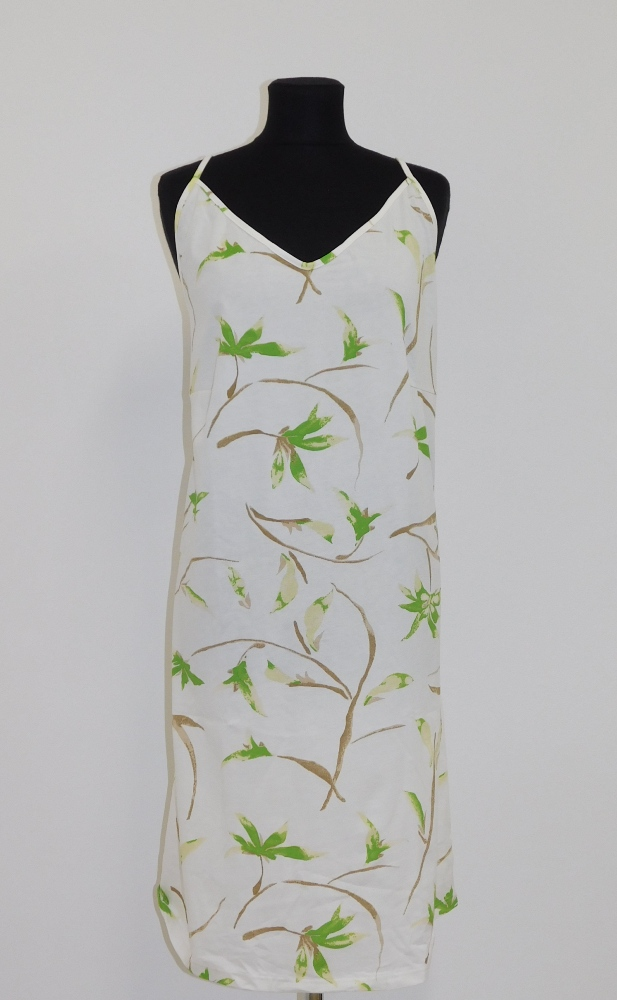 Dámská noční košile Juka - zelený květ
