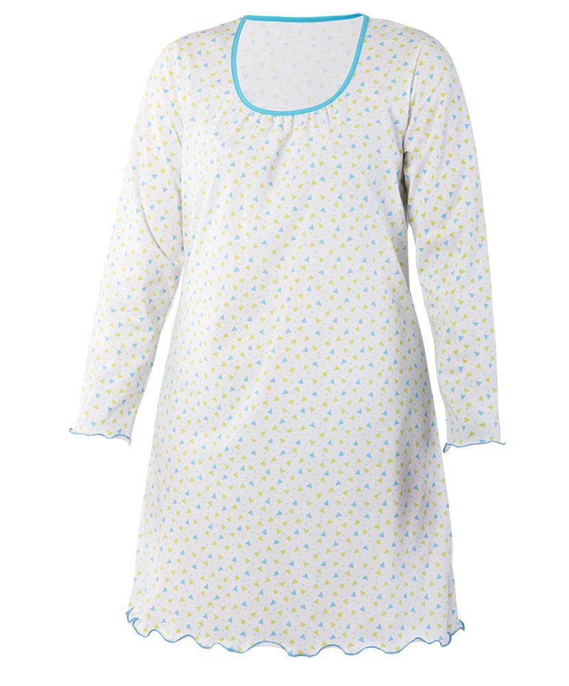 Dámská noční košile Dana D - modrozelený trojúhelník
