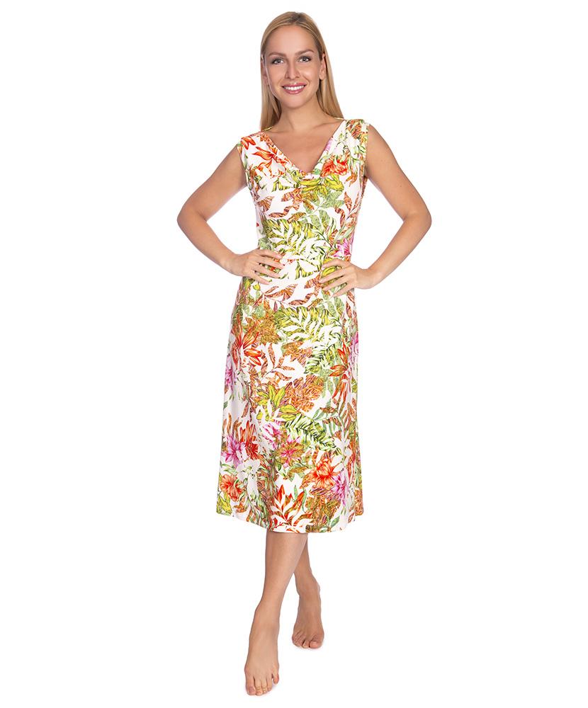 Dámské šaty Marlen - květ na bílé
