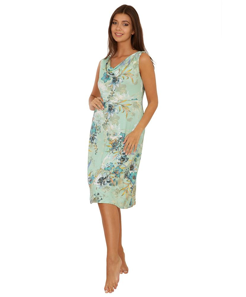 Dámské šaty Marlen - květ na zelené