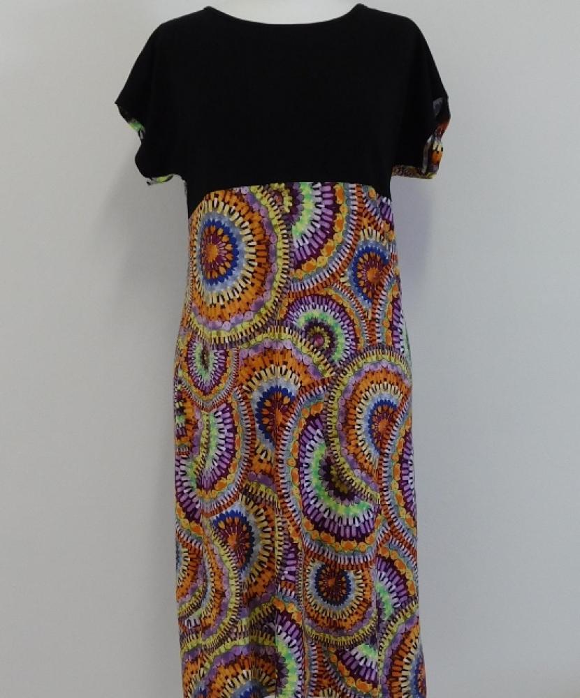 Dámské šaty Anička - pestrý tisk
