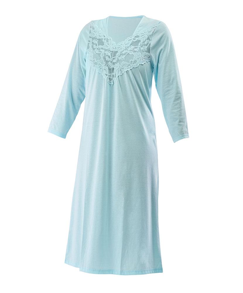 Dámská noční košile Svatuše - jemný tyrkys