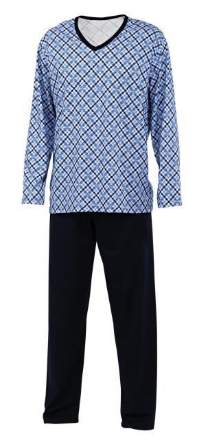 Pánské pyžamo Emil - tmavě modrý tisk