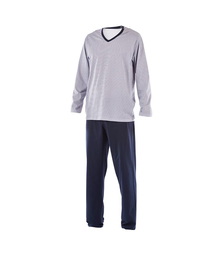 Pánské pyžamo Emil - modrý trojúhelník