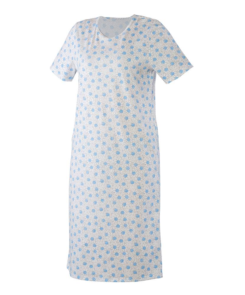 Dámská noční košile Iva - modrobílá kopretina