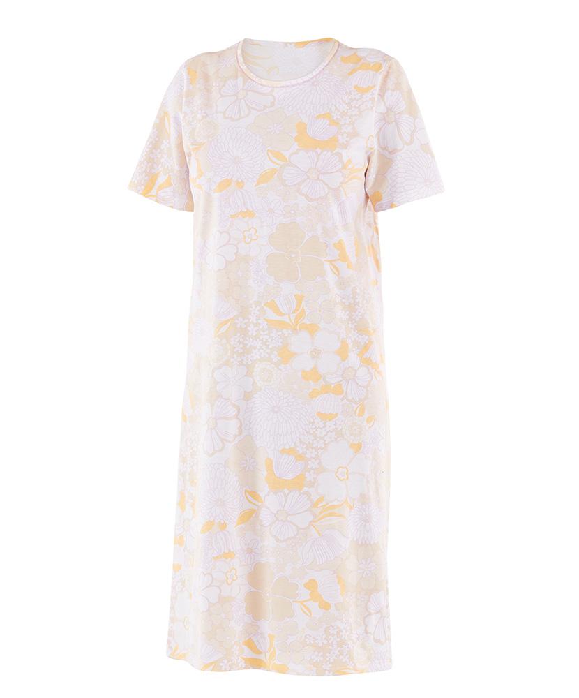 Dámská noční košile Iva - fialovožlutý květ