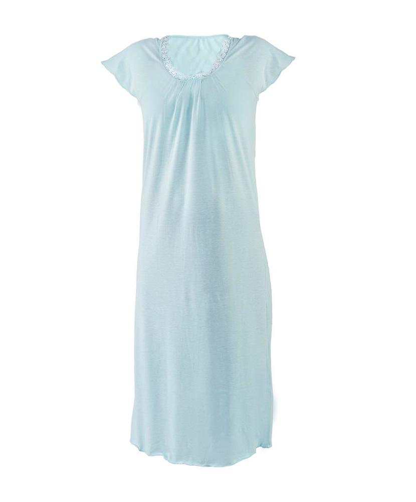 Dámská noční košile Magdička - světlý tyrkys