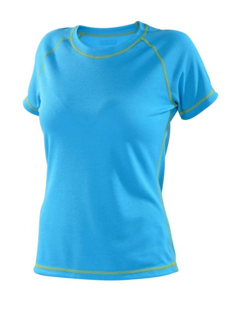 Dámské tričko krátký rukáv Coolbest - tyrkys