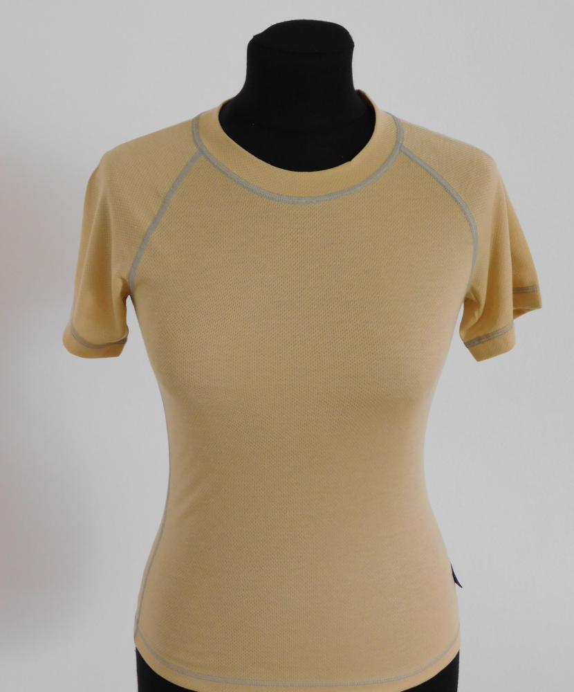 Dámské tričko krátký rukáv Coolbest - béžová