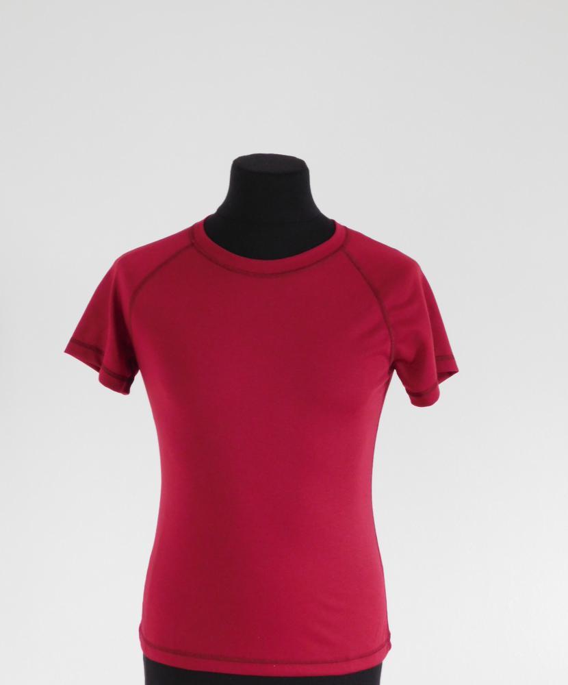 Dámské tričko krátký rukáv Coolbest - vínová