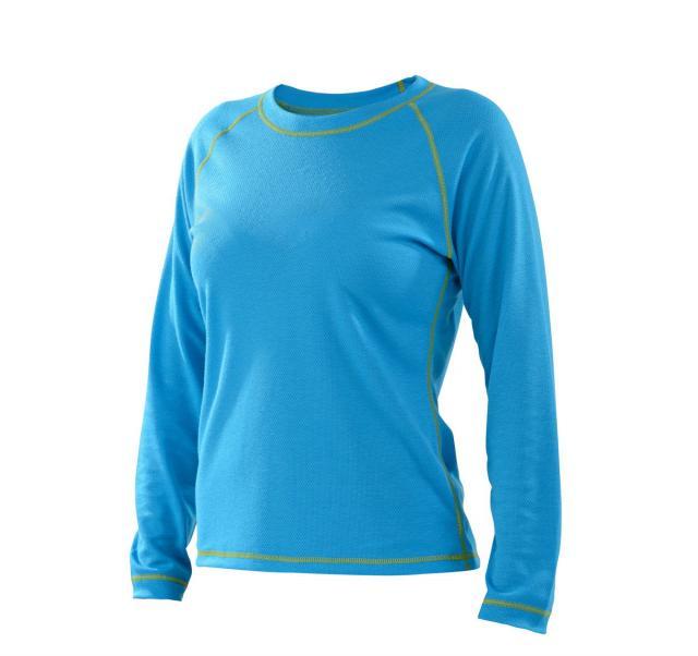 Dámské tričko dlouhý rukáv Coolbest - tyrkys