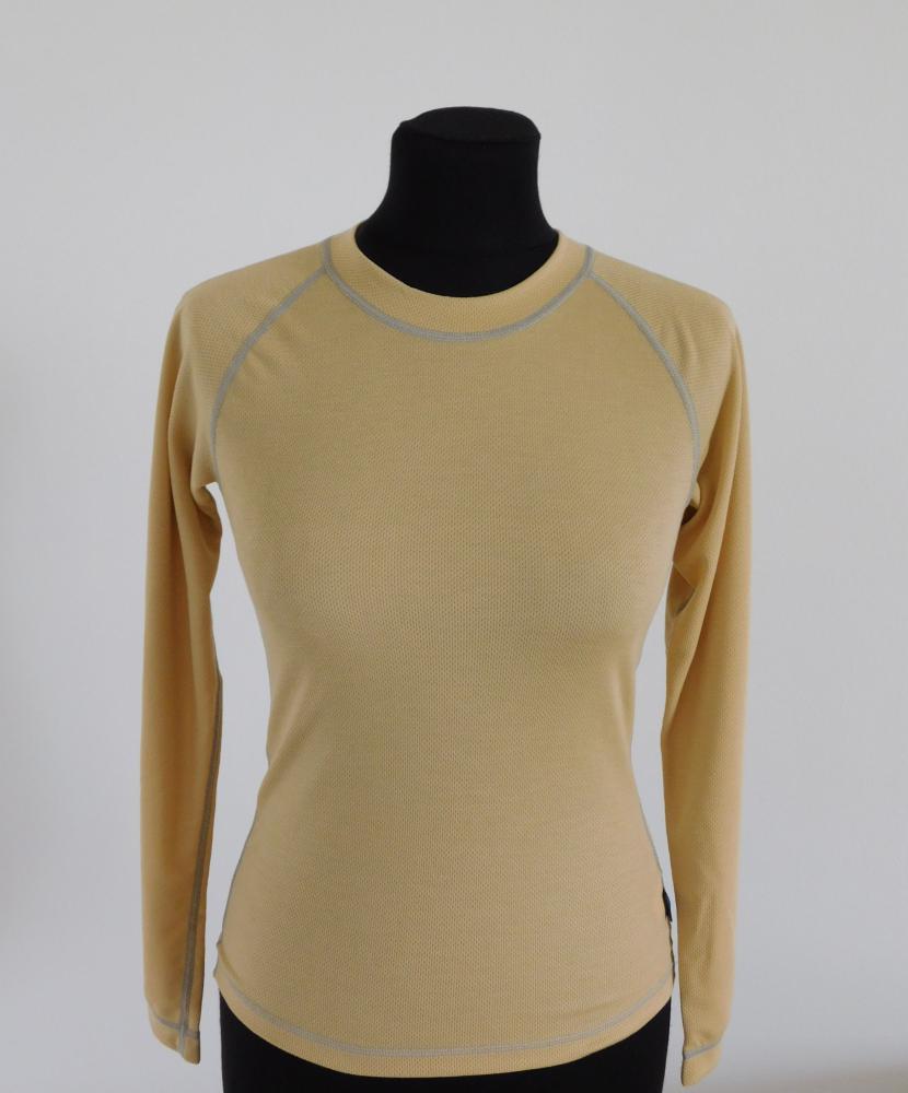 Dámské tričko dlouhý rukáv Coolbest - béžová
