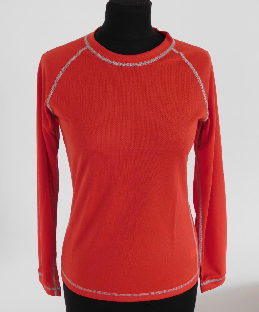 Dámské tričko dlouhý rukáv Coolbest - červená