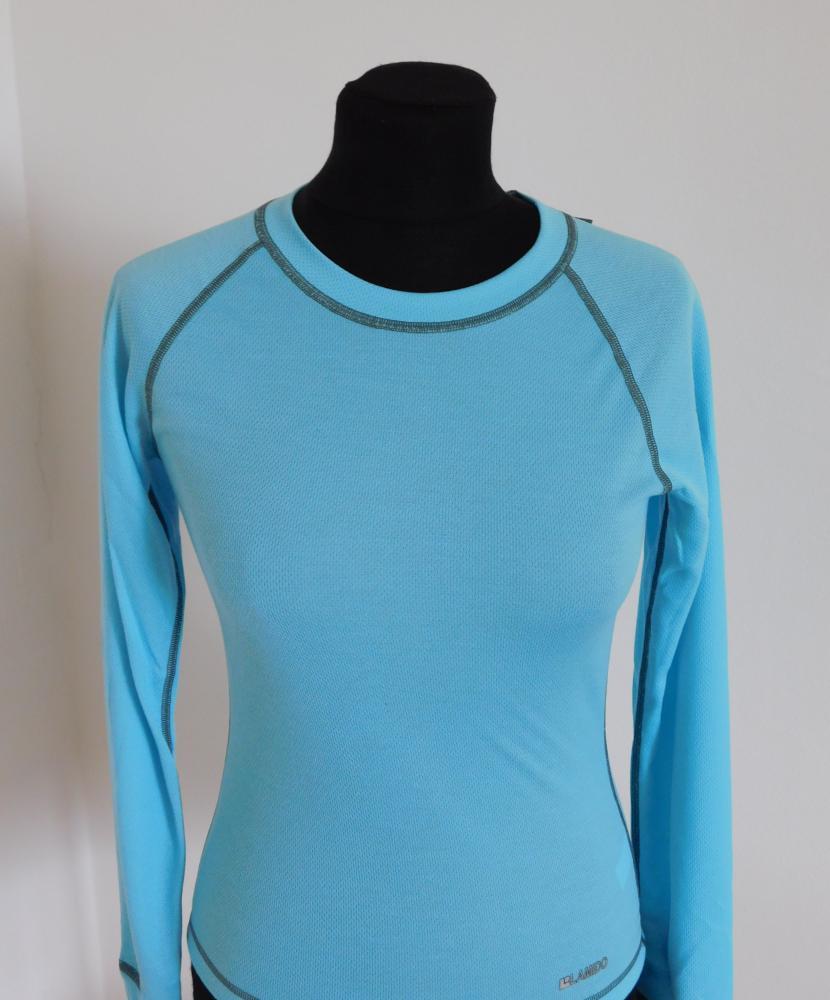 Dámské tričko dlouhý rukáv Coolbest - světlý tyrkys