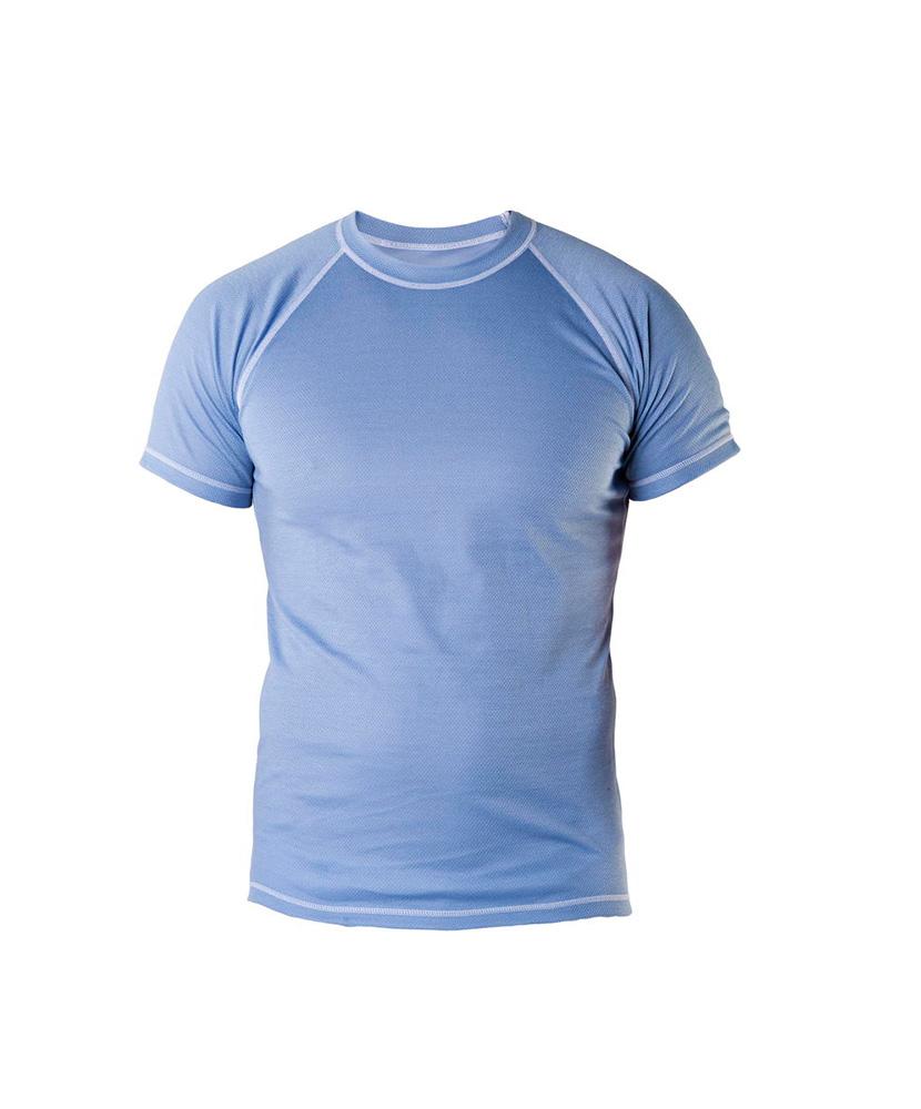 Pánské tričko krátký rukáv Coolbest - šedomodrá
